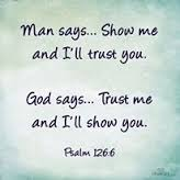 trust God not man